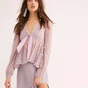 Free People | Luisa in Mystic Lavender Top XL